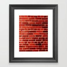 Bricks (1) Framed Art Print