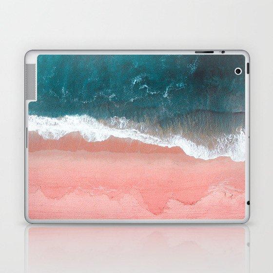 Turquoise Sea Pastel Beach III Laptop & iPad Skin