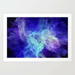 Space Explosion 07 Art Print