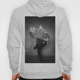 News on Fire (Baclk and White) Hoody