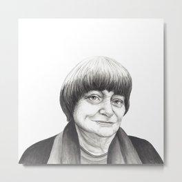 Agnes Varda Metal Print
