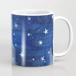 Midnight Stars Night Watercolor Painting by Robayre Coffee Mug