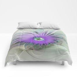 Flourish, abstract Fantasy Flower Comforters