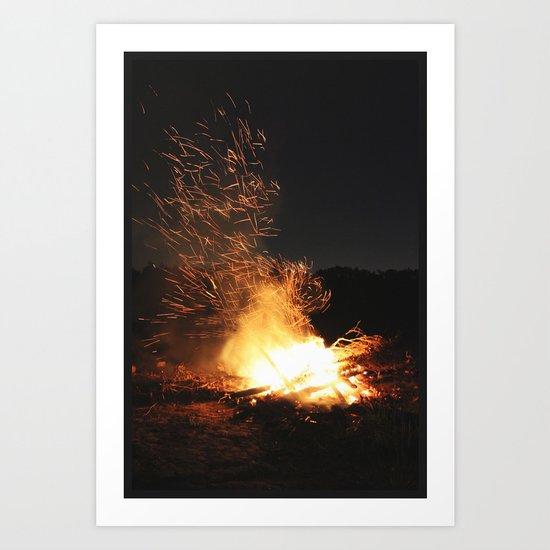 Fire Dance Art Print