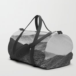 Glimpse - Black and White Mountains Landscape Nature Photography Duffle Bag