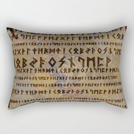 Runic alphabet Rectangular Pillow