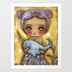 Narwhal Love Art Print