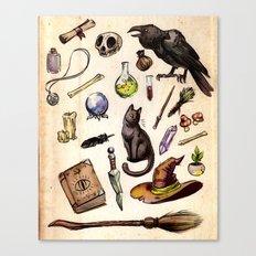 Witching Essentials Canvas Print