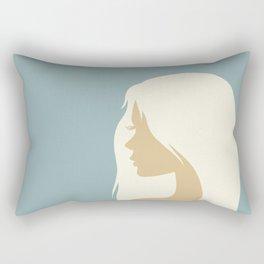 blonde girl in profile Rectangular Pillow