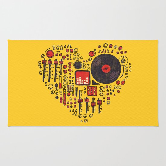 Music in every heartbeat Rug