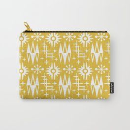 Mid Century Modern Atomic Space Age Pattern Mustard Yellow Carry-All Pouch