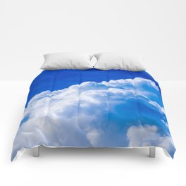 White clouds in the blue sky Comforters
