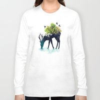 art Long Sleeve T-shirts featuring Watering (A Life Into Itself) by Picomodi