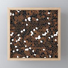 Chocolate Brown Polycamo Framed Mini Art Print