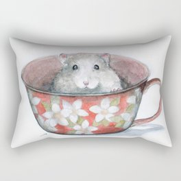 Rat in a cup Rectangular Pillow