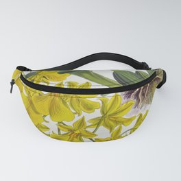 Little Yellow Vintage Orchids Lindenia Collection Fanny Pack