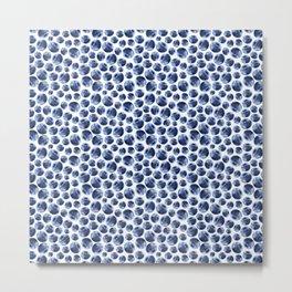 Blueberries Pattern Metal Print
