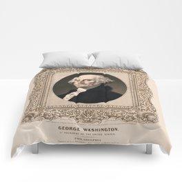 George Washington - Vintage Color Portrait Comforters
