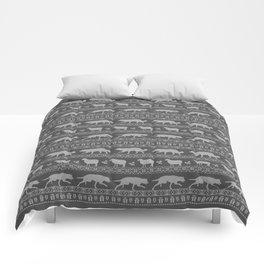 Ugly christmas sweater | Border collie grey Comforters