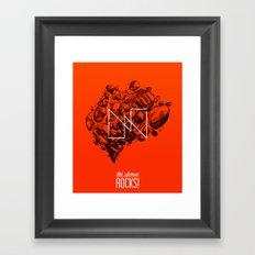 Old School Rocks (Orange Rock Version) Framed Art Print