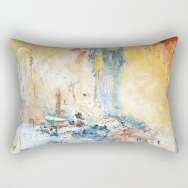 She Comes With A Past by Nadia J Art Rectangular Pillow