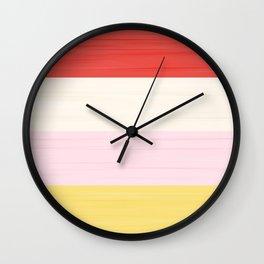 Brush Stroke Stripes: Strawberry Shortcake Wall Clock