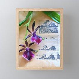 How Now Brown Flow-er Framed Mini Art Print