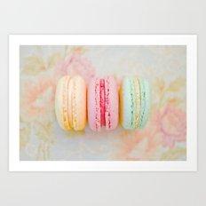 Happy Macarons Art Print