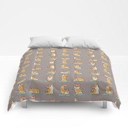Corgi Yoga Comforters