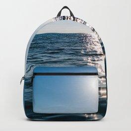 Sea Blue Sky sun Backpack