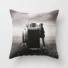 Looking Through Time Throw Pillow