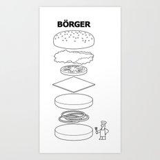 Börger Art Print