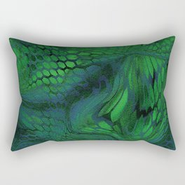 green iguana Rectangular Pillow