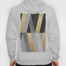 Gold and gray lines I Hoody