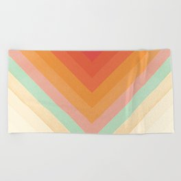 Rainbow Chevrons Beach Towel