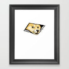 Ceiling Doge Framed Art Print