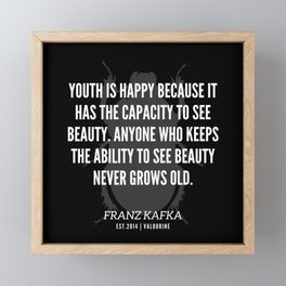 4 |  Franz Kafka Quotes | 190517 Framed Mini Art Print