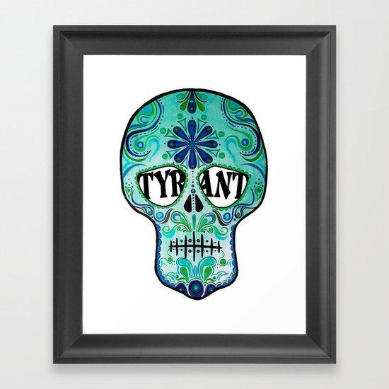 """TYRANT """"Sugar Skull"""" Framed Art Print"""