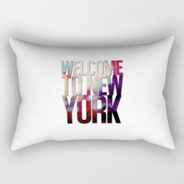 Welcome To New York Rectangular Pillow