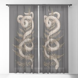 The Snake and Fern Sheer Curtain