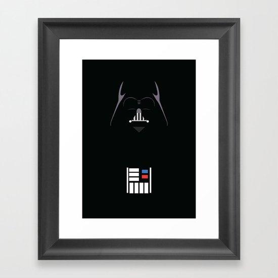 Star Wars - Darth Vader Minimalist Framed Art Print