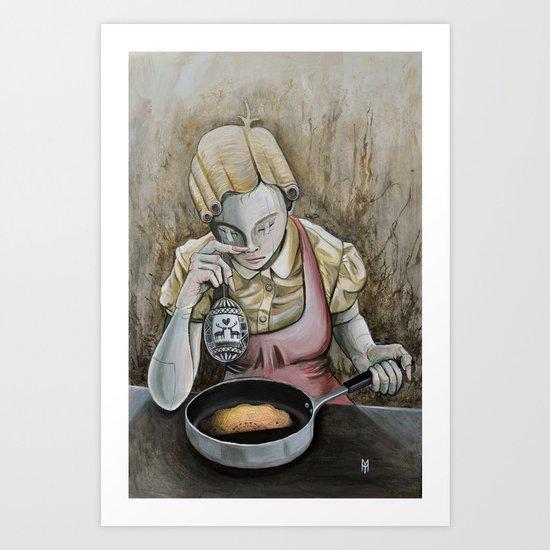 I keep making the same omelette Art Print