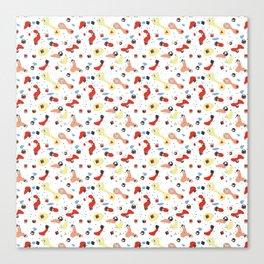 Polyhedral Dice- Pop Modern Canvas Print