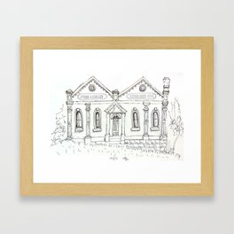 Clunes Free library Framed Art Print