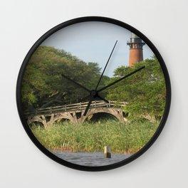 Currituck Light and Historic Bridge Wall Clock
