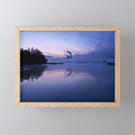 Tranquil blue nature Framed Mini Art Print