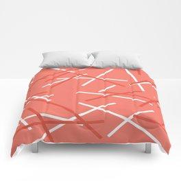 Coral Mikado pattern Comforters