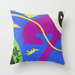 Matisse Beasts of The Sea Cut Out, Artwork for Wall Art, Prints, Posters, Men, Women, Youth Throw Pillow