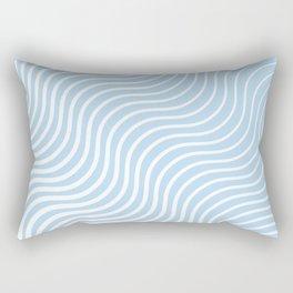 Whisker Pattern - Light Blue & White #285 Rectangular Pillow