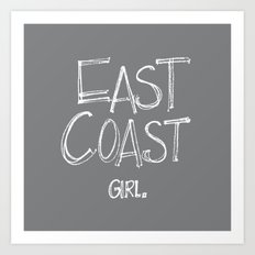 East Coast, Girl. Art Print
